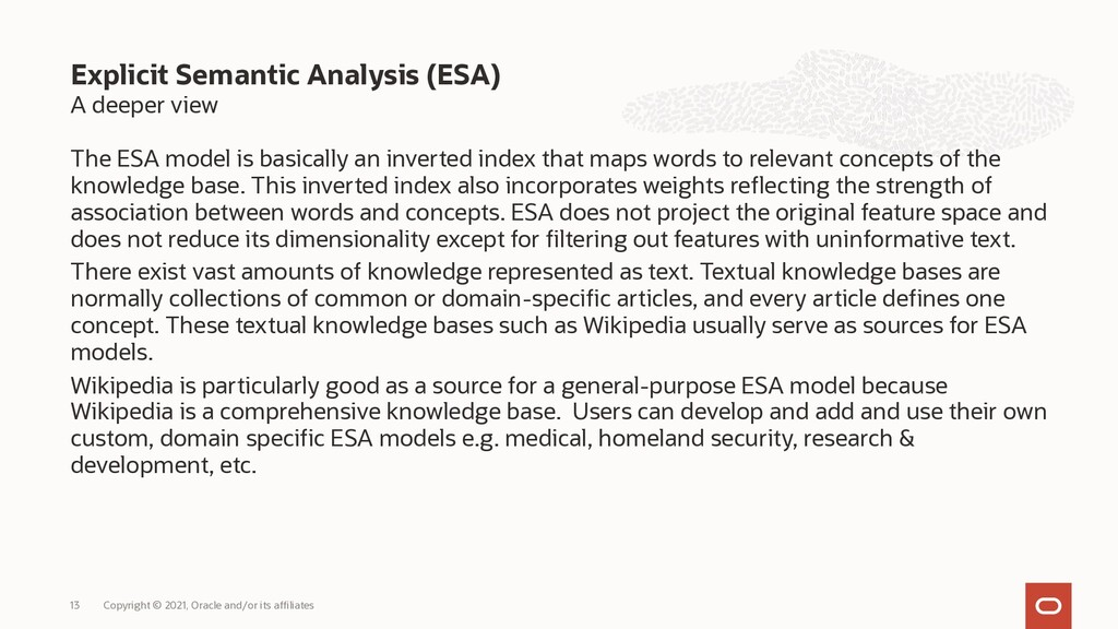 A deeper view The ESA model is basically an inv...
