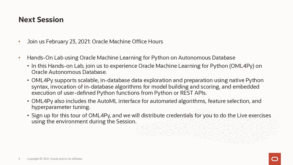 • Join us February 23, 2021: Oracle Machine Off...