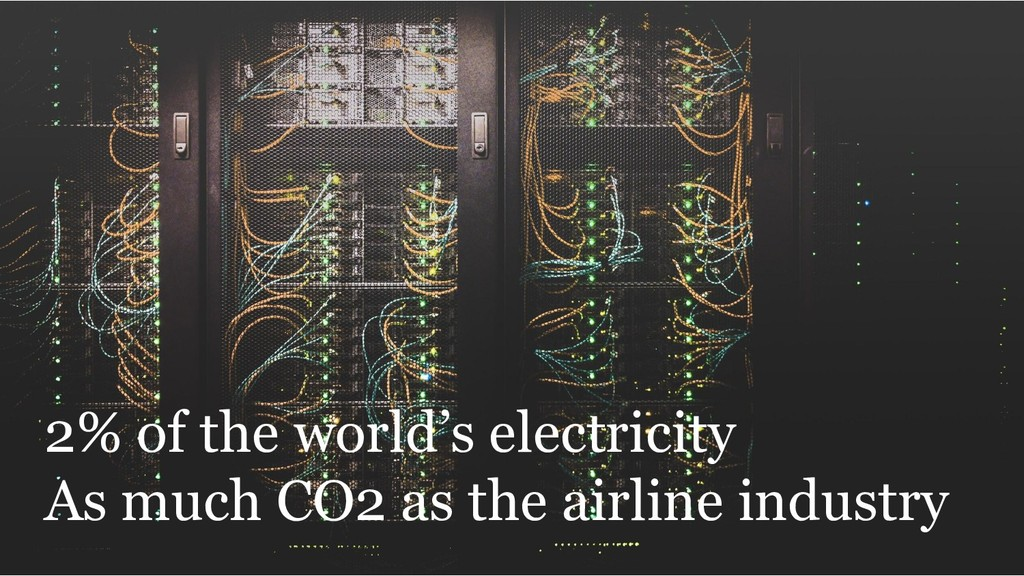 2% of the world's electricity As much CO2 as th...