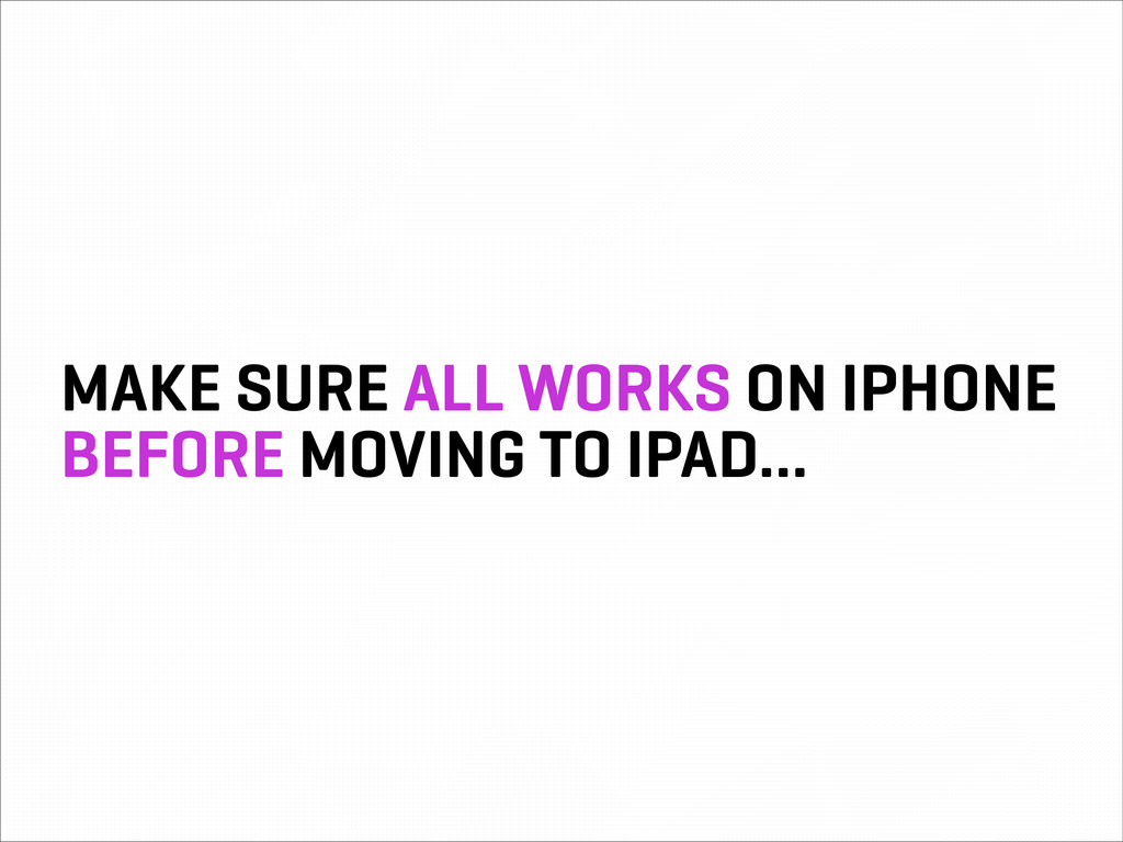 MAKE SURE ALL WORKS ON IPHONE BEFORE MOVING TO ...