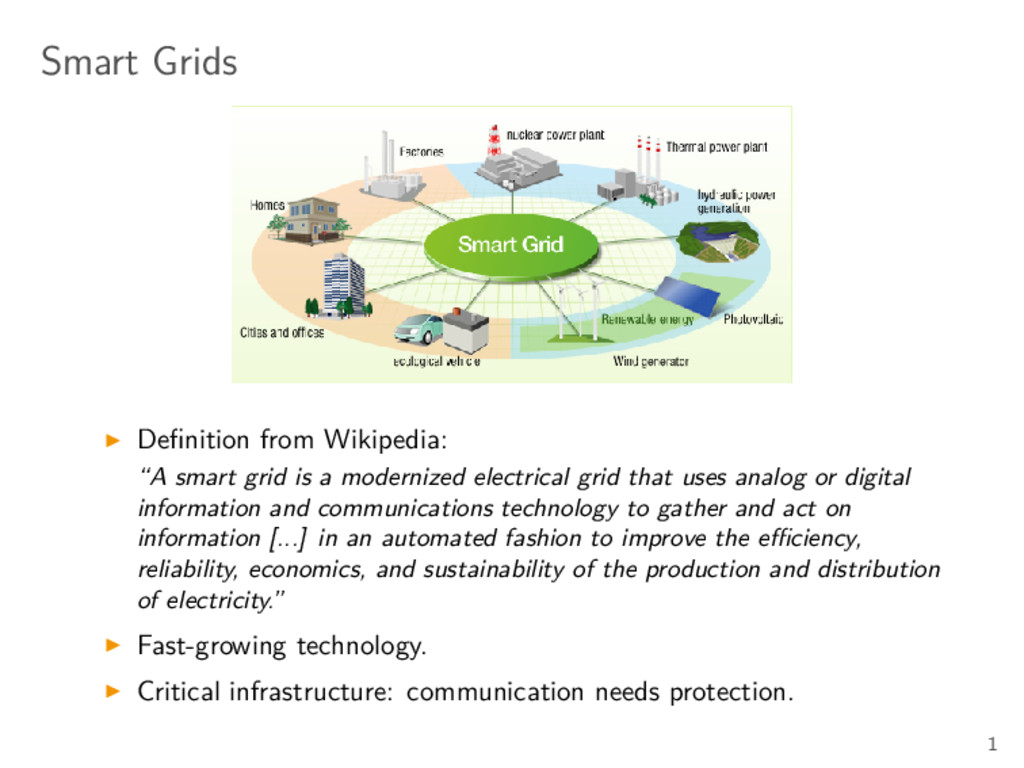 "Smart Grids Definition from Wikipedia: ""A smart ..."