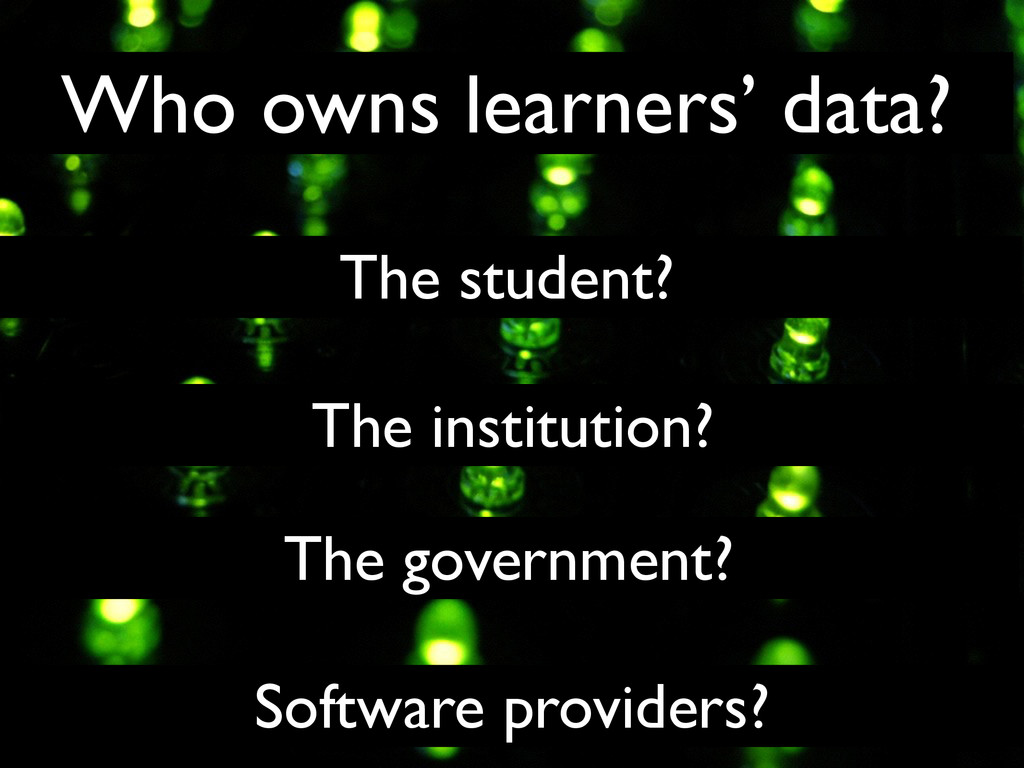 The student? The institution? The government? S...