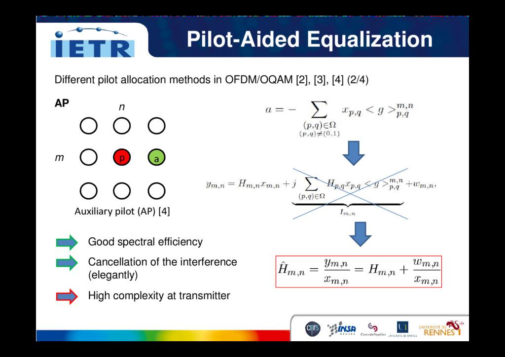 Pilot-Aided Equalization p a Different pilot al...
