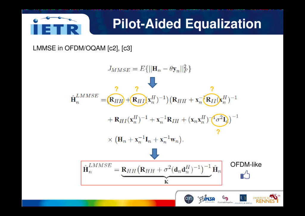 Pilot-Aided Equalization LMMSE in OFDM/OQAM [c2...