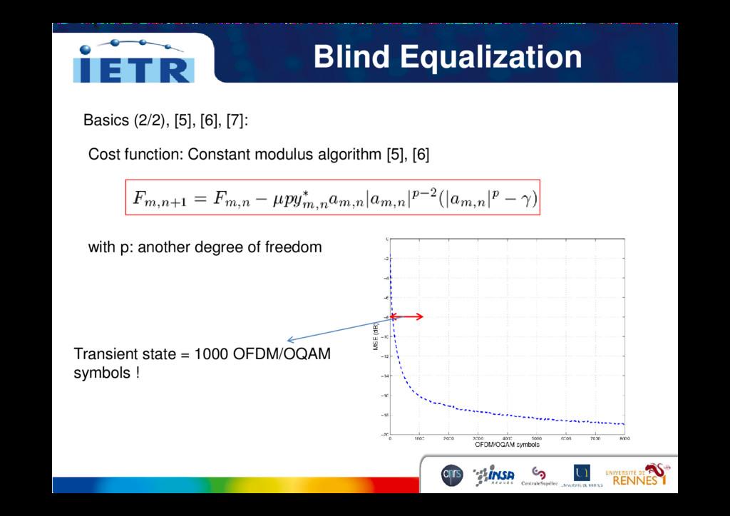 Blind Equalization Basics (2/2), [5], [6], [7]:...