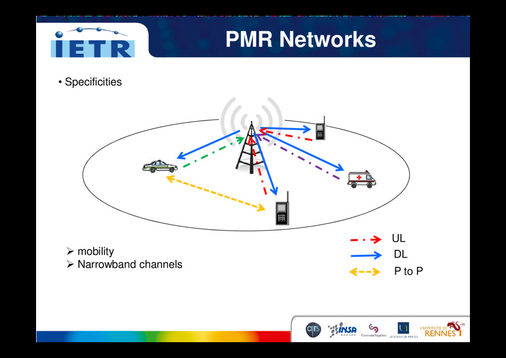PMR Networks • Specificities UL DL P to P mobil...