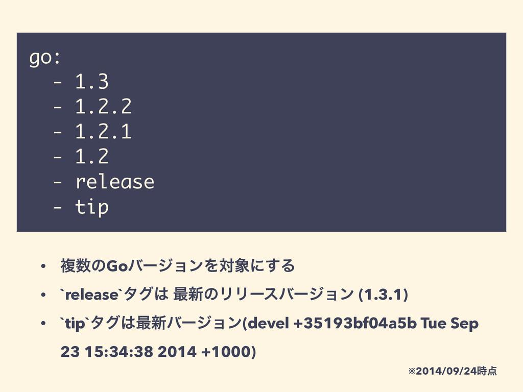 go: - 1.3 - 1.2.2 - 1.2.1 - 1.2 - release - tip...