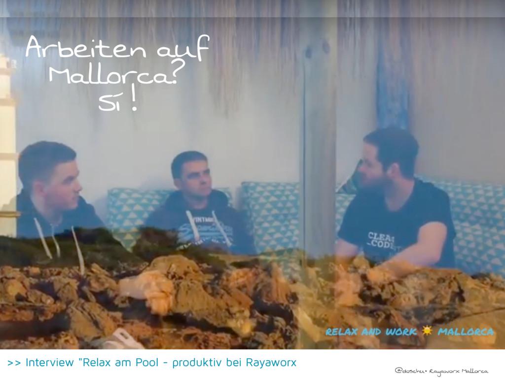 @doschu• Rayaworx Mallorca Arbeiten auf Mallorc...