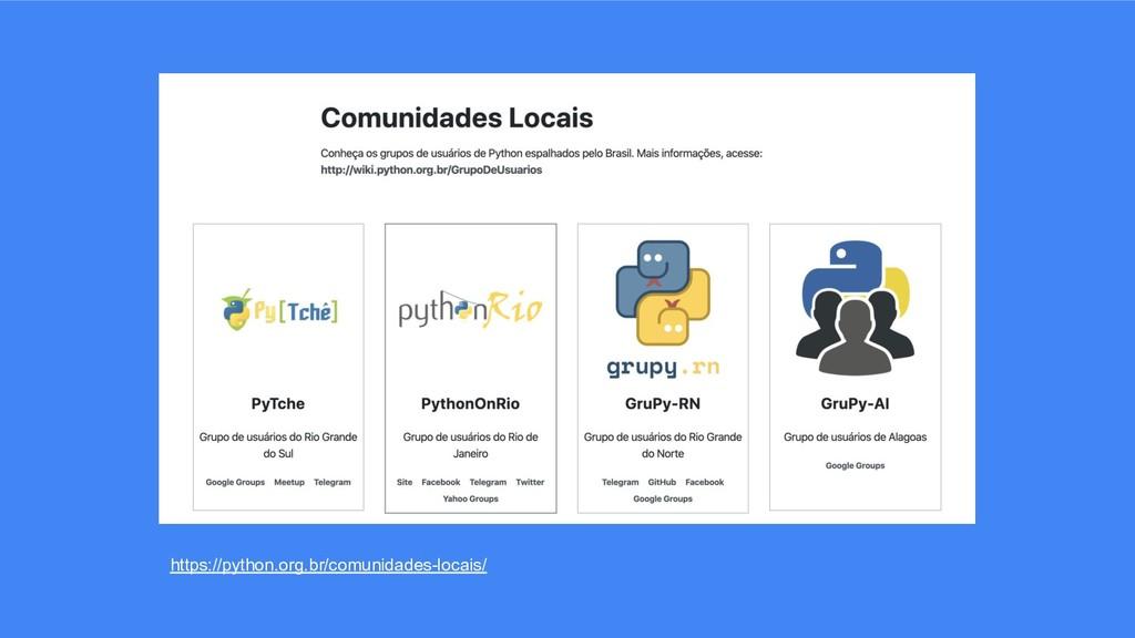 https://python.org.br/comunidades-locais/