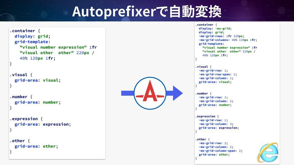 Autopre xer .container { display: -ms-grid; dis...