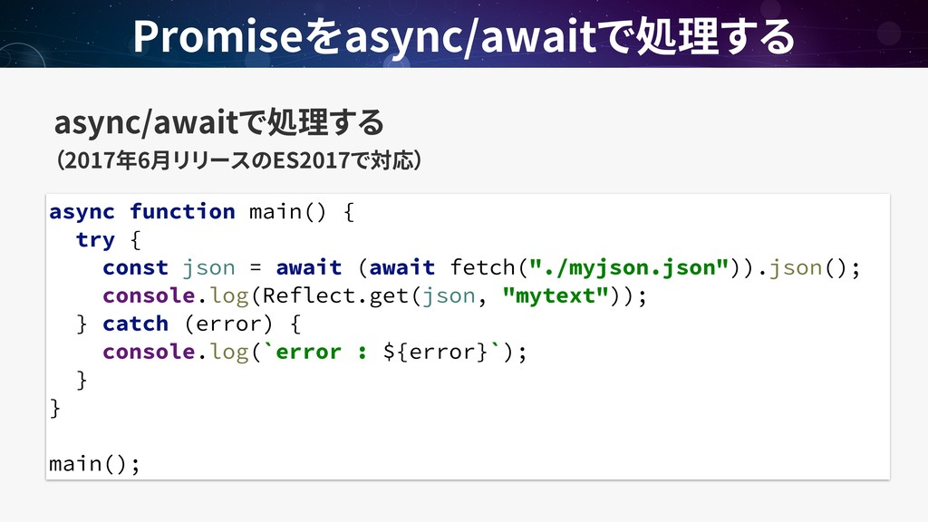 async/await  2017 6 ES2017 Promise async/await...