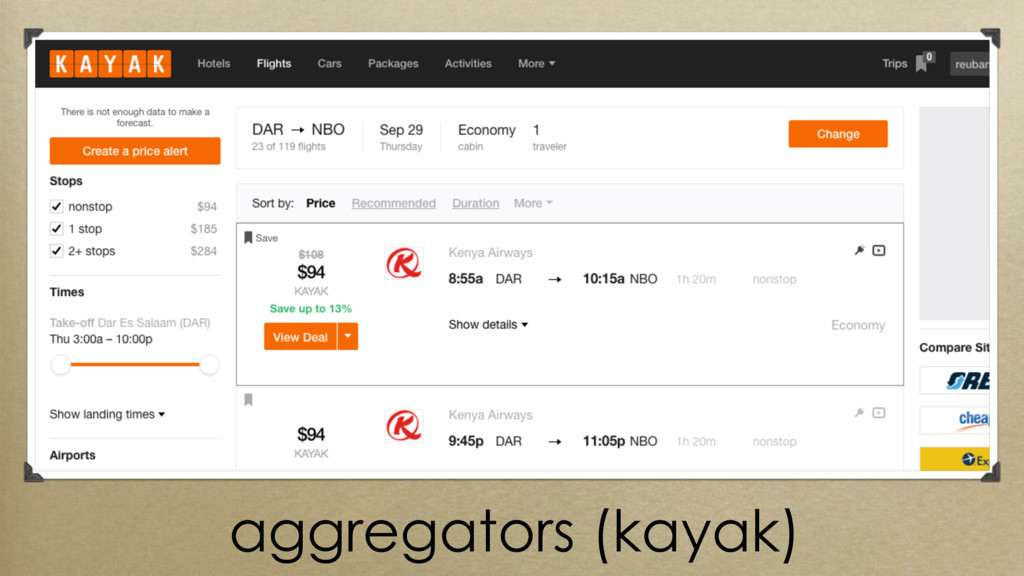 aggregators (kayak)