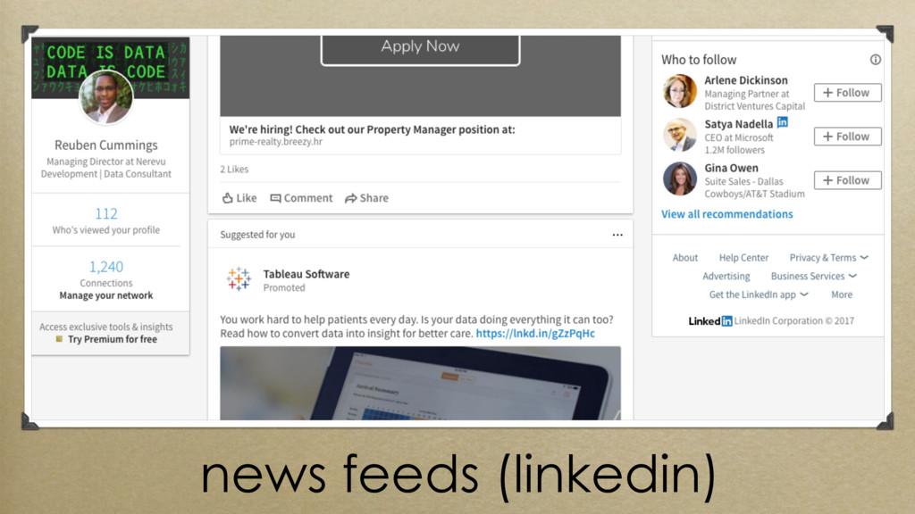 news feeds (linkedin)