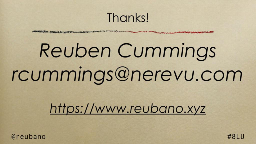 @reubano #8LU Reuben Cummings rcummings@nerevu....