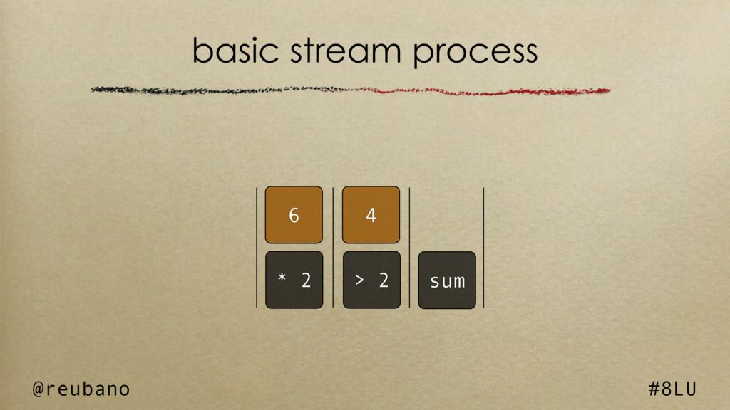 @reubano #8LU 6 4 basic stream process * 2 > 2 ...