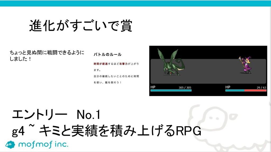 エントリー No.1 g4 ~ キミと実績を積み上げるRPG  進化がすごいで賞 ちょ...