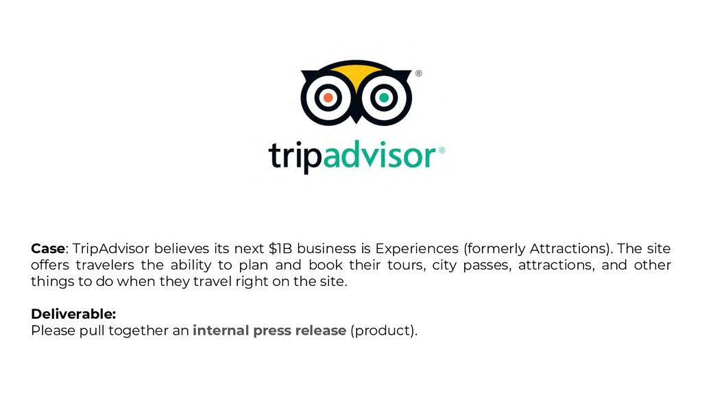 Case: TripAdvisor believes its next $1B busines...