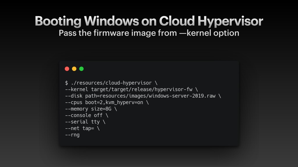 Booting Windows on Cloud Hypervisor Pass the f ...
