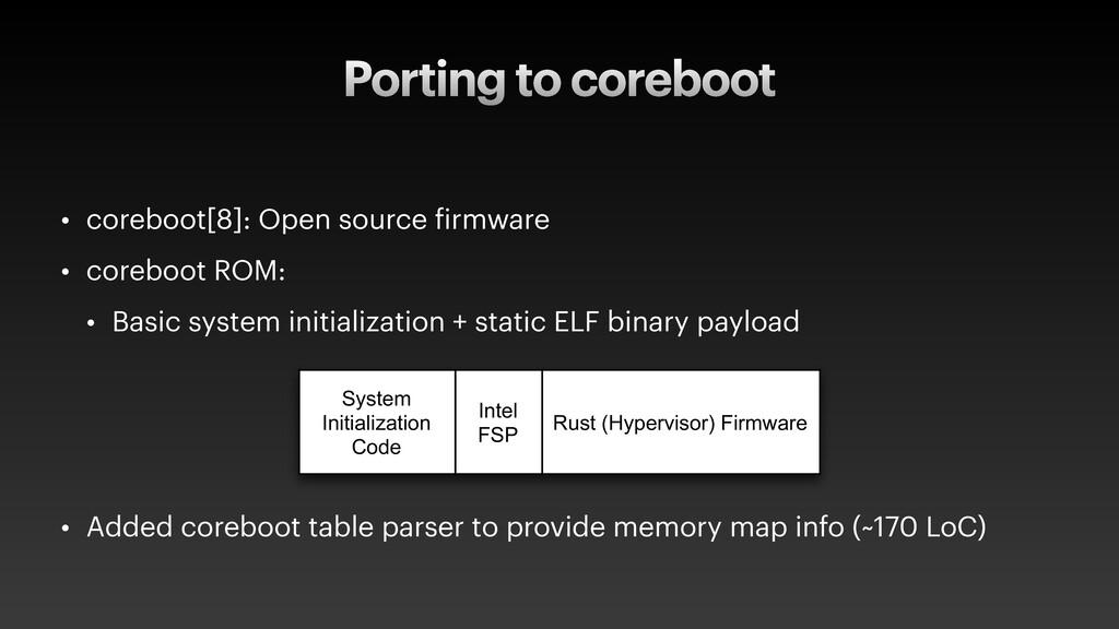 Porting to coreboot • coreboot[8]: Open source ...