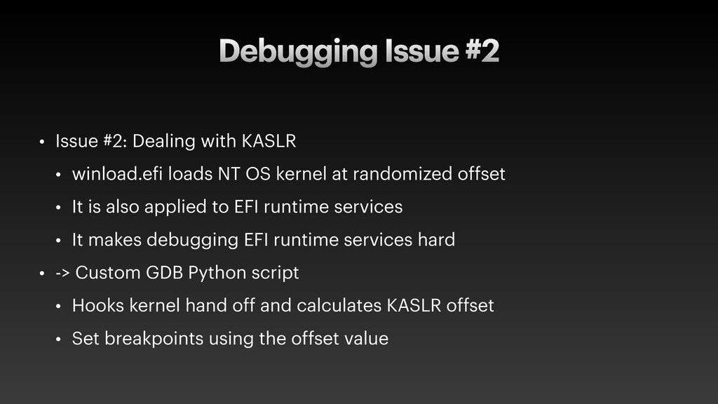 Debugging Issue #2 • Issue #2: Dealing with KAS...