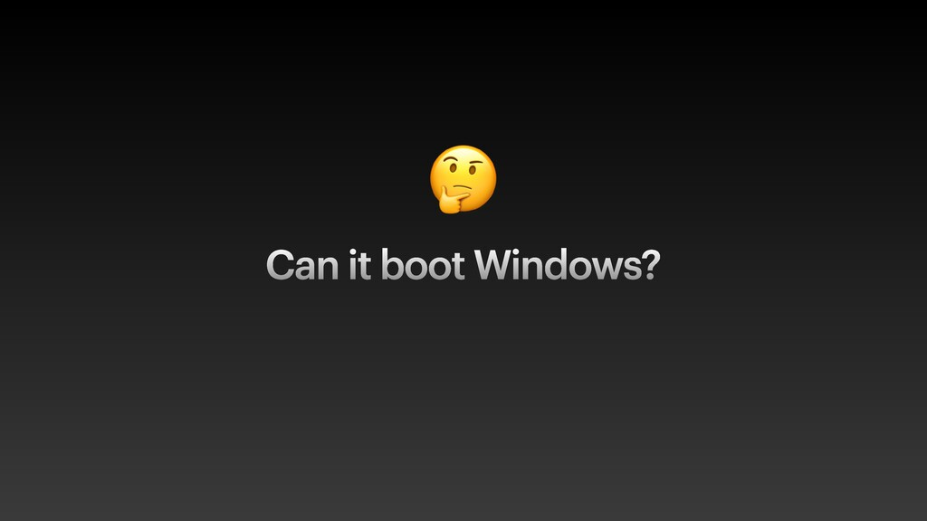 🤔 Can it boot Windows?