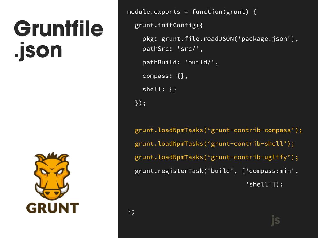 Gruntfile .json module.exports = function(grun...