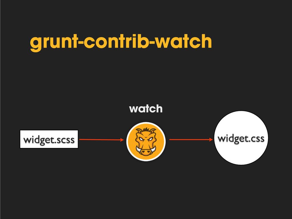 grunt-contrib-watch widget.scss widget.css watch