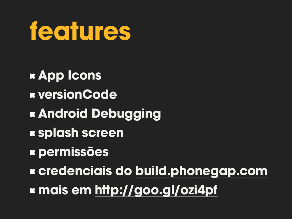 features App Icons versionCode Android Debuggin...