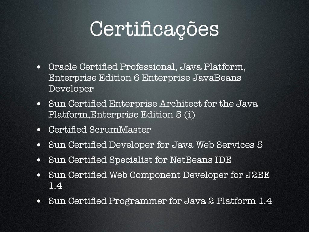 Certificações • Oracle Certified Professional, Ja...