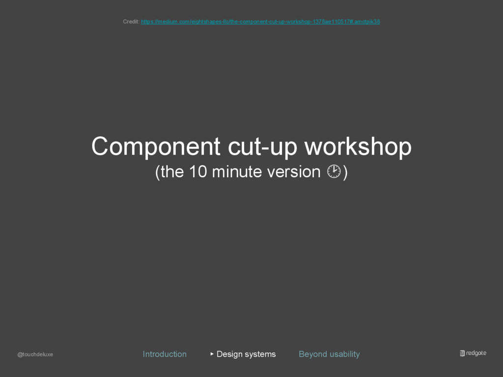 Component cut-up workshop (the 10 minute versio...