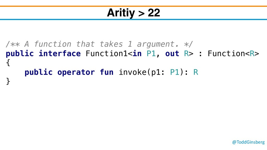 @ToddGinsberg Aritiy > 22 /** A function that t...