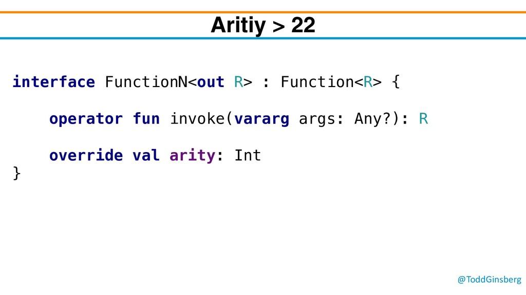 @ToddGinsberg Aritiy > 22 interface FunctionN<o...