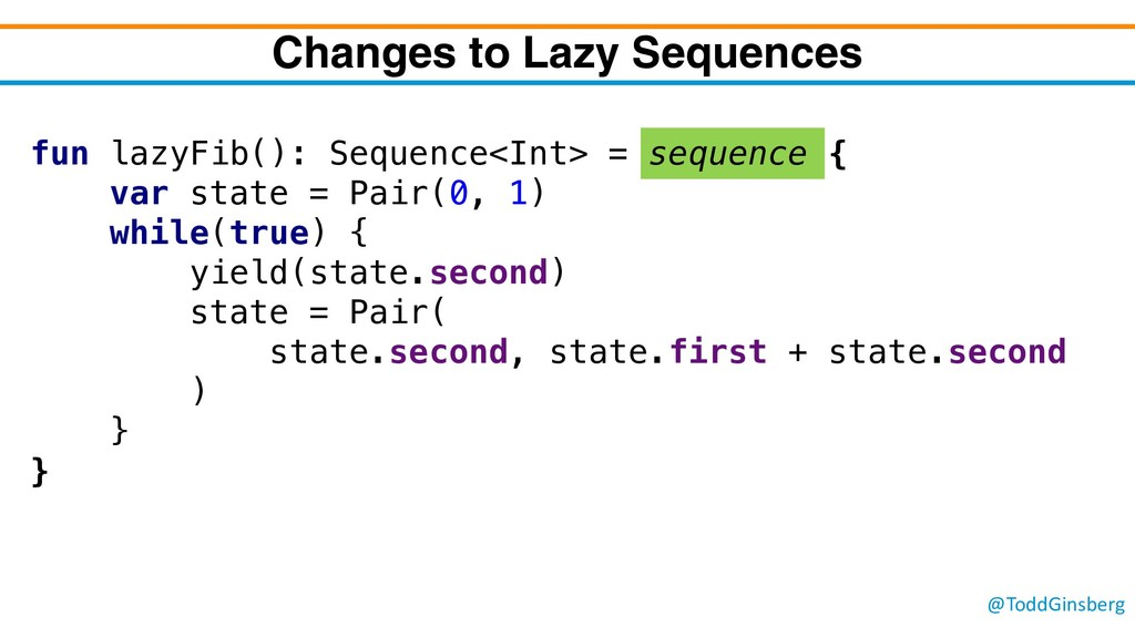 @ToddGinsberg Changes to Lazy Sequences fun laz...