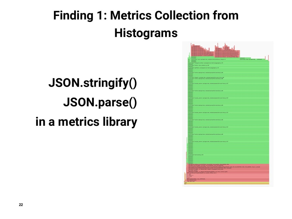 22 Finding 1: Metrics Collection from Histogram...