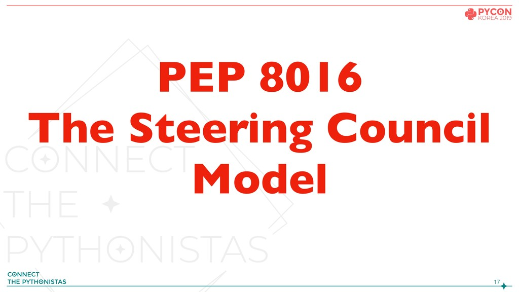 !17 PEP 8016 The Steering Council Model