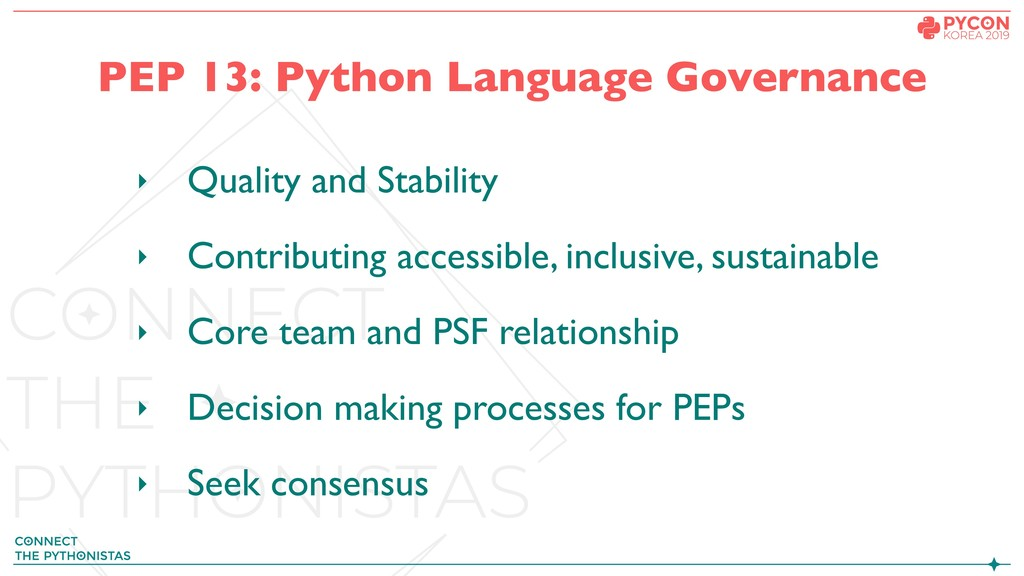 PEP 13: Python Language Governance ‣ Quality an...