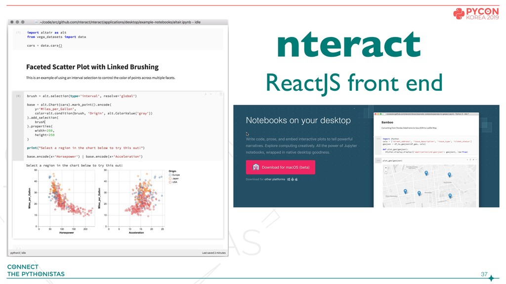 !37 ReactJS front end nteract