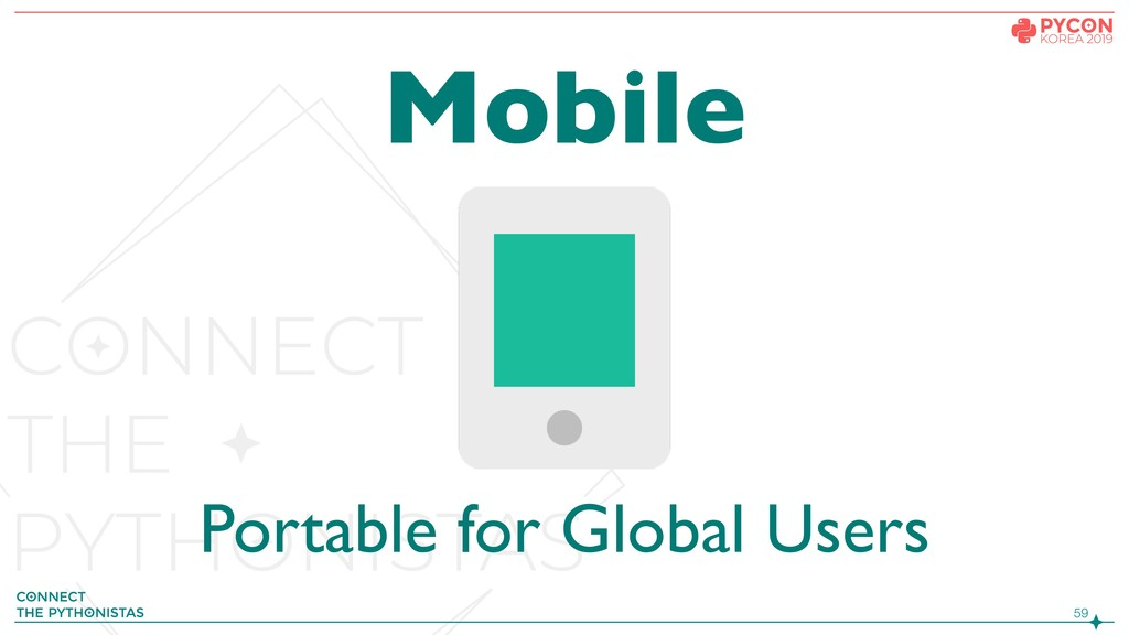 !59 Mobile Portable for Global Users