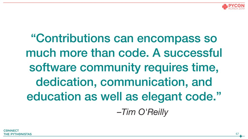 "–Tim O'Reilly ""Contributions can encompass so m..."