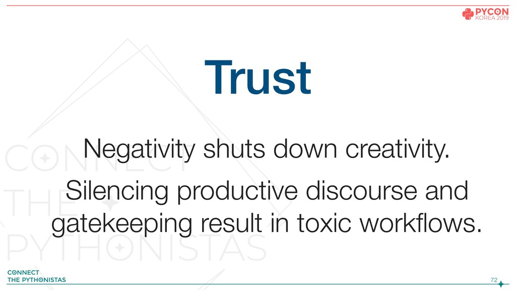 !72 Trust Negativity shuts down creativity. Sil...