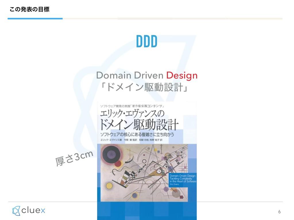 6 ͜ͷൃදͷඪ DDD Domain Driven Design ʮυϝΠϯۦಈઃܭʯ ...