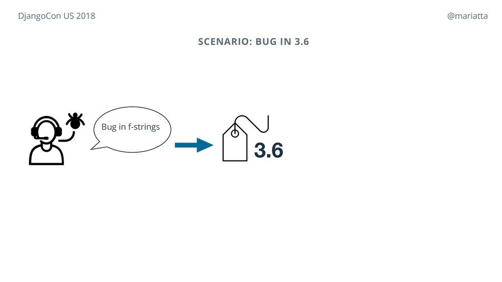 SCENARIO: BUG IN 3.6 Bug in f-strings 3.6 Djang...
