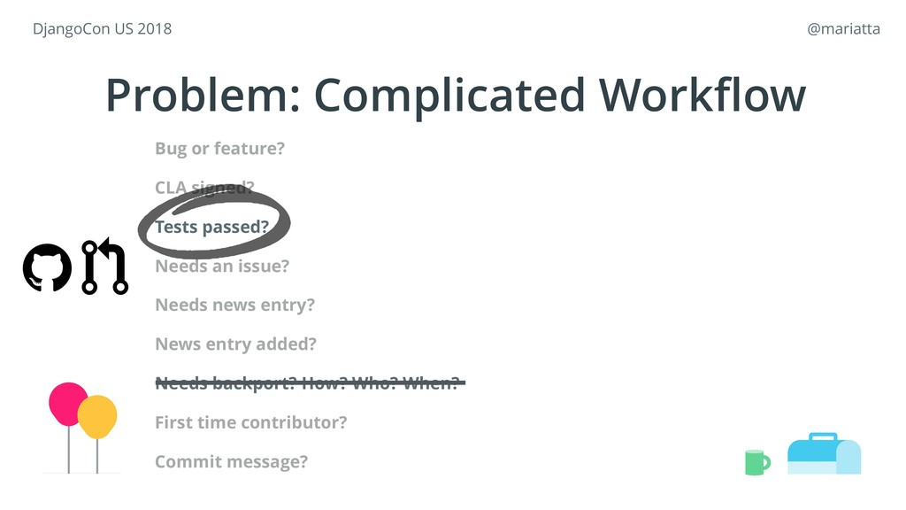 Problem: Complicated Workflow Bug or feature? CL...