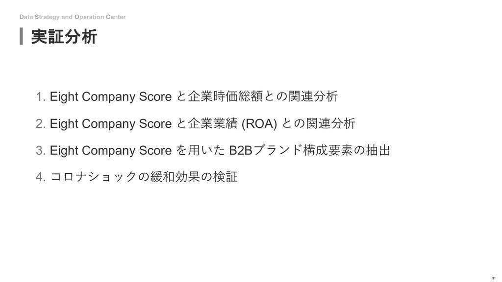 Data Strategy and Operation Center 実証分析 31 1. E...