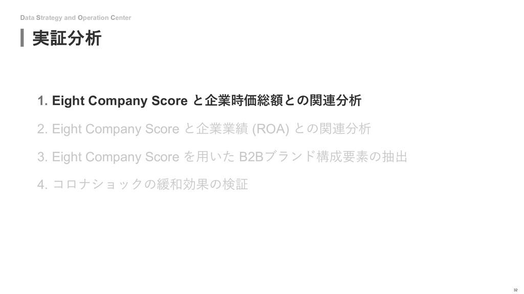 Data Strategy and Operation Center 実証分析 32 1. E...