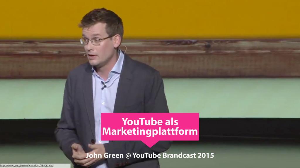 John Green @ YouTube Brandcast 2015 https://www...