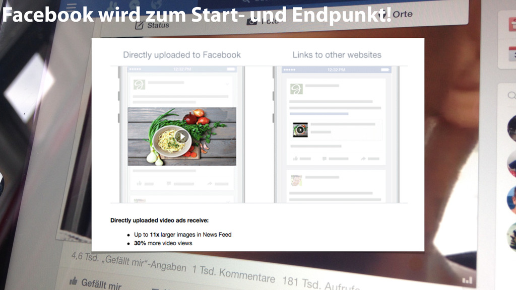 Facebook wird zum Start- und Endpunkt!