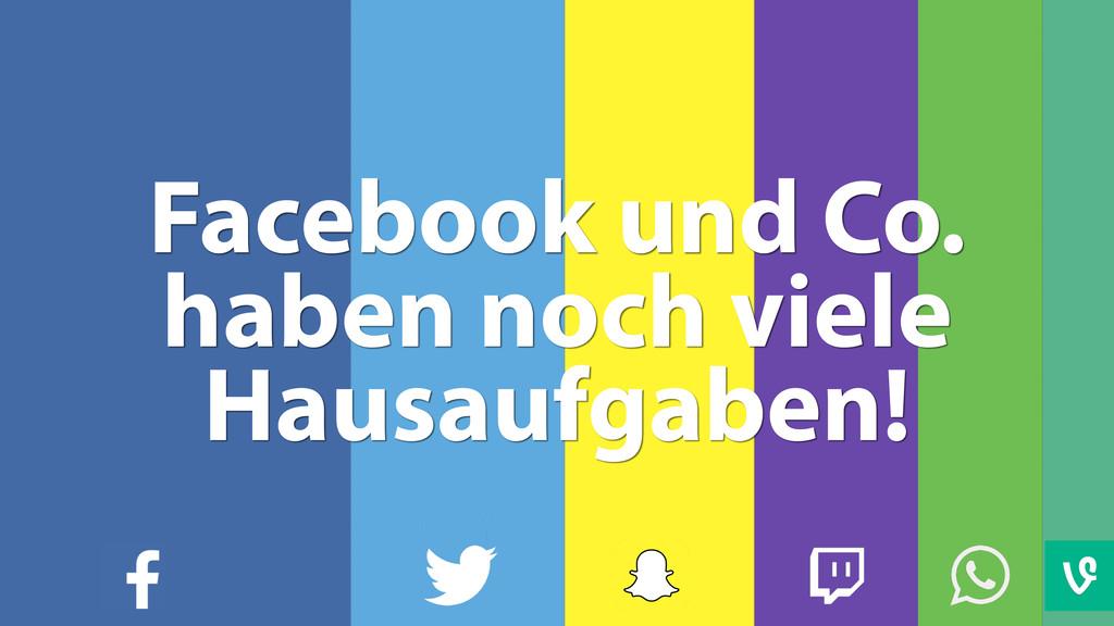 Facebook und Co. haben noch viele Hausaufgaben!