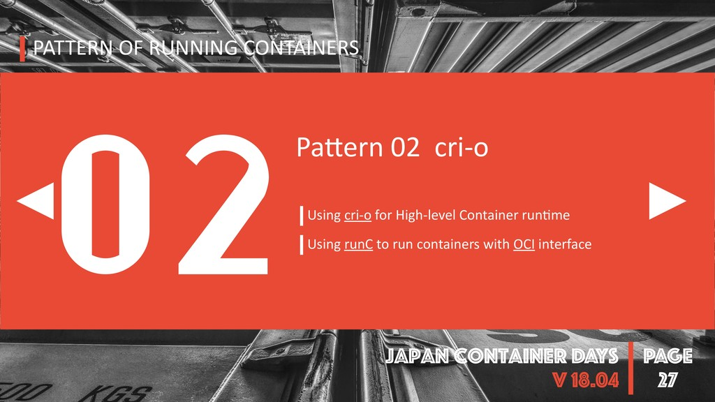 PAGE Japan Container DAYS v 18.04 27 PATTERN OF...