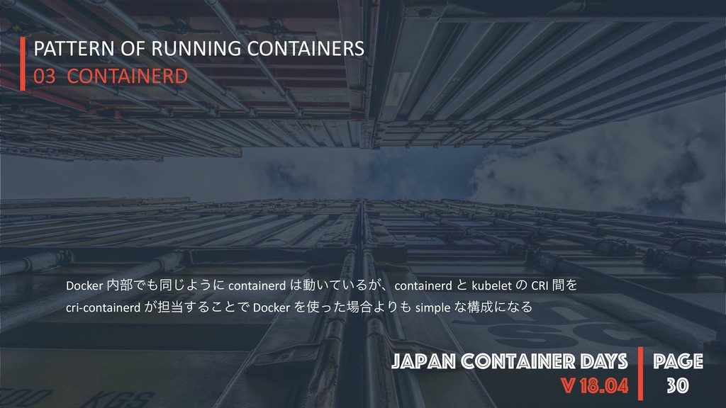 PAGE Japan Container DAYS v 18.04 30 PATTERN OF...